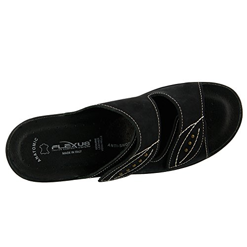 Flexus Womens Aterie Essentials Sandalo Con Scivolo Nero