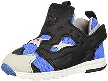 Reebok Boys' Versa Pump Fury Sneaker, Echo Blue/Black/Steel/Silver, 10 M US Toddler