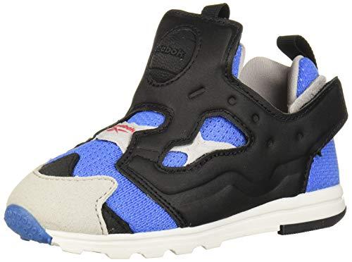 Reebok Boys' Versa Pump Fury Sneaker, Echo Blue/Black/Steel/Silver, 6 M US Toddler