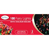 The Benross Christmas Workshop 100 Shadeless Colour Fairy Lights