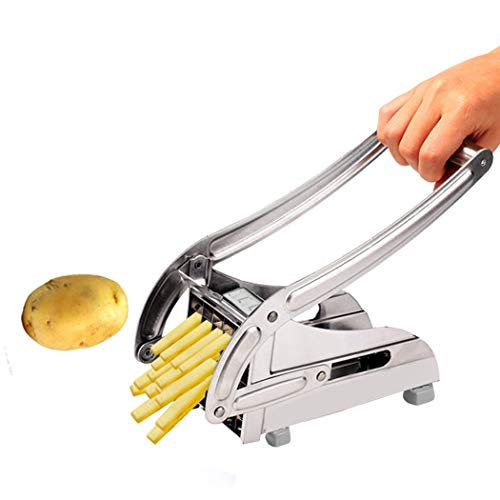 Aceshin French Fry Potato Cutter with 2 Interchangeable Blade for Easy Slicing (US Stock)