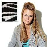 Put On Pieces Clip-in Animal Print - White Tiger