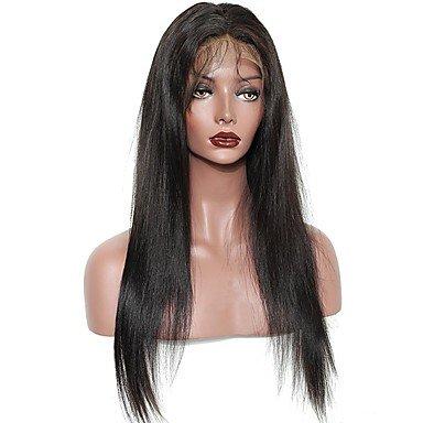 Cabello humanos de las mujeres cabello Rémy Full Lace Peluca Cabello Brasileño Ondulation Natural Copa dégradée