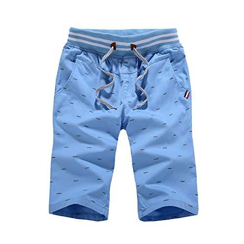 Unita Bermuda Pantaloni Azzurro Shifan Taglia Palestra Jogging Grossa Tinta Leggero Pantaloncini Uomo zzxpOf6