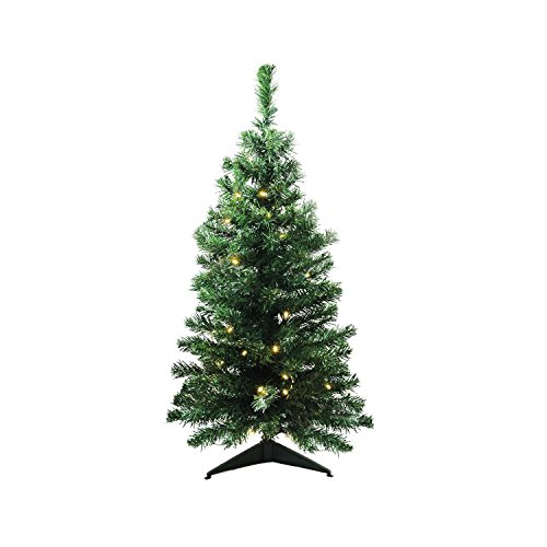Northlight 3' x 18' Pre-Lit Mixed Classic Pine Medium Artificial Christmas Tree - Warm Clear LED Lights