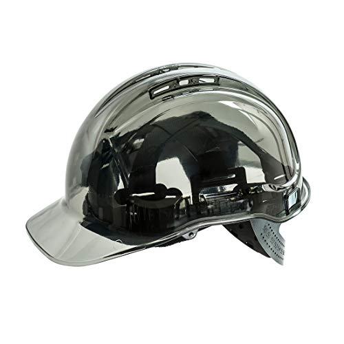 Portwest Peak View Plus Helmet Hard Hat Construction Work Protective Wear Hi Vis Cap ANSI G, Smoke