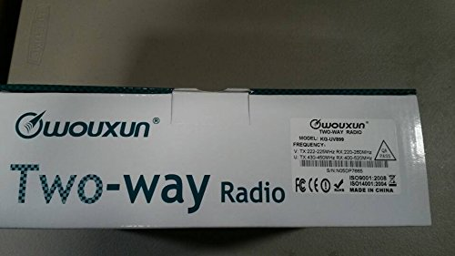 4350444903 Wouxun Kg-uv899 Two Way Radio Transceiver Dual Band 220-260//400-520 Mhz