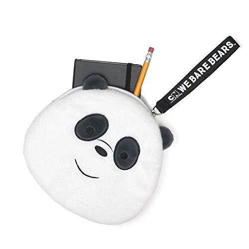 (GUND We Bare Bears Panda Deluxe Zipper Pouch, Plush Stuffed Coin Purse, 8