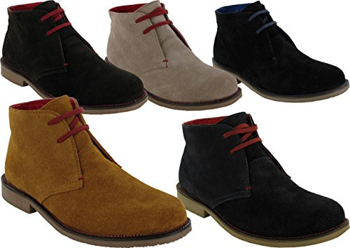 Men Lace up Pure Suede New Fashion Boot Tan