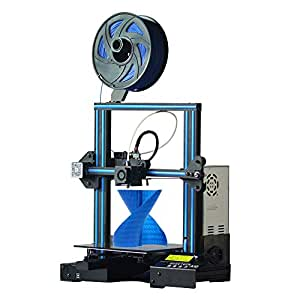 GEEETECH A10 3D Printer with Open Source Firmware, Breaking-Resuming, High Adhesion Building Platform, Stable Movements on V-Slot Rails, Fast-Assembled Aluminum Profile DIY kit,220×220×260m