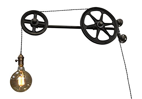 Double Pulley Wall Light (12' Wired Wire Double)