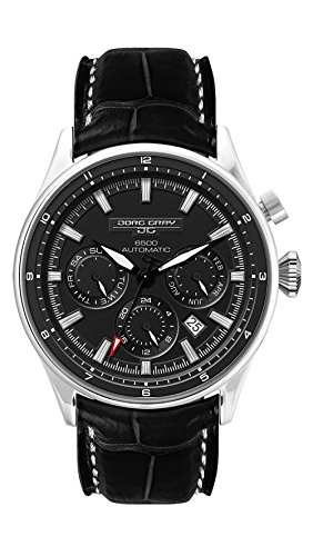 Jorg Gray JG6500-81 Limited Edition Men's Automatic Watch Black Dial Black Leather Strap