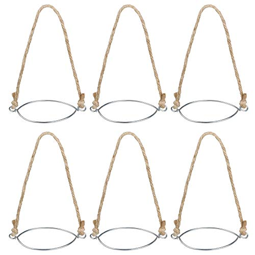 Cosmos Set of 6 Stainless Metal Ring with Twine Handles