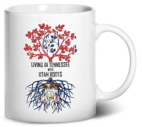 Tenacitee Living In Tennessee with Utah Roots Coffee Mug, 11oz, White -