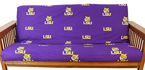 College Covers Louisiana State Tigers Futon Cover - Full Size fits 6 and 8 inch mats (Bright Cover Futon)
