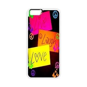 "Live Laugh Love iPhone6 Plus 5.5"" Cover Case, Live Laugh Love DIY Cell Phone Case, iPhone6 Plus 5.5"" Custom Case"