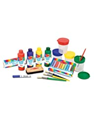 Melissa & Doug Easel Accessory Set - Paint, Cups, Brushes, Ch...