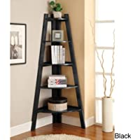 5-tier Corner Ladder Display Bookcase BLACK. Has a lovely finish and keeps everything organized. Durable Bookcase.