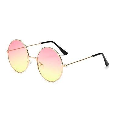 CCMOO metal circular moda lentes marinas gafas de sol rojas ...