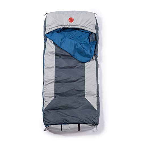 OmniCore Designs Multi Down -10°F / -23.3℃ Hooded Rectangular Cold Weather Sleeping Bag with 4pt. Compression Stuff Sack and 110L Mesh Storage Sack, Reg – Up to 6'2″