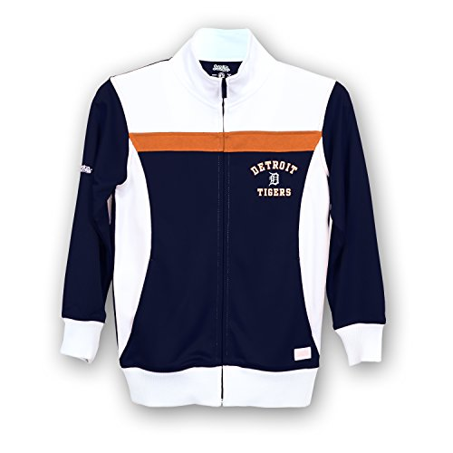 Stitches MLB Detroit Tigers Girls Fashion Track Jacket, X-Large, Navy/White