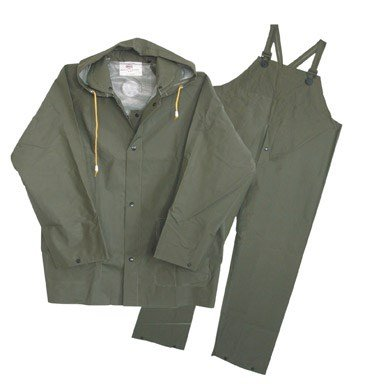 Boss 3PR0300GG Extra Extra Extra Large Green 3-Piece 35mm Lined Rainsuit