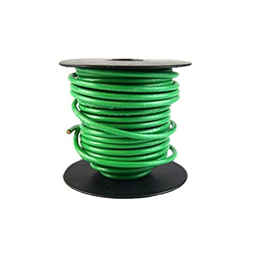 Ground wire amazon 10 gauge awg green ground wire 50 ft solid copper ul listed cable satellite greentooth Images