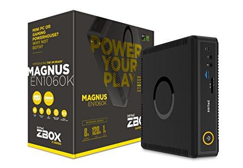 ZOTAC ZBOX-EN1060K-U-W2B MAGNUS Gaming Mini PC Intel Kaby Lake Core i5 NVIDIA GeForce GTX 1060 VR Ready Windows 10