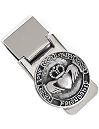 Money Clip Irish Claddagh Pewter & Stainless Steel Made in Ireland