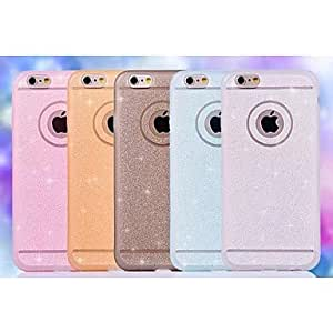 LCJ Special Design Solid Color Diamond/Rhinestone Decorated Case Ultra Slim TPU for iPhone 6 Plus (Assorted Colors) , White