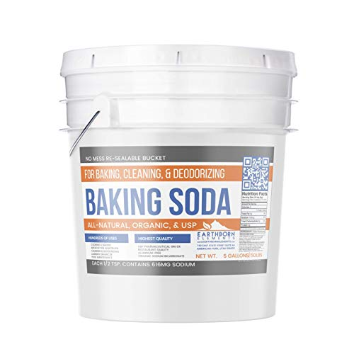Baking Soda (5 gallon (50 lb)) by Earthborn Elements, All-Natural, USP Pharmaceutical Grade, for Cooking, Baking, Cleaning, Deodorizing, & More