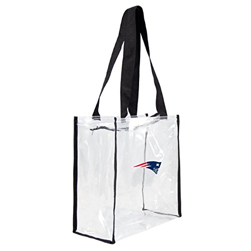 NFL New England Patriots Square Stadium Tote, 11.5 x 5.5 x 11.5-Inch, Clear
