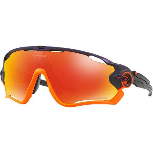 Oakley Men's Jawbreaker Non-Polarized Iridium Rectangular Sunglasses, Purple Pop Fade, 0 - Sunglasses Purple Oakley