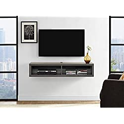 Martin Furniture IMSE350S Floating TV Console, 48inch, Skyline Walnut