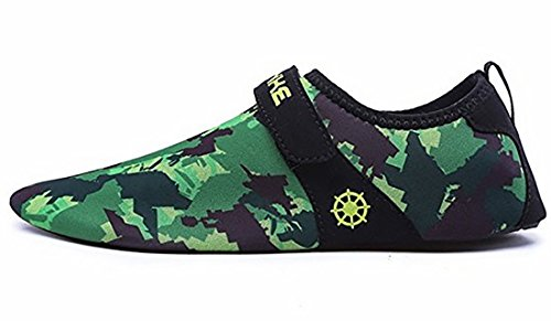 Wonvatu Mens Womens Fashion Durable Sole Barefoot Aqua Water Shoes For Beach Swim Drive Yoga Surf Camo GiFjYC