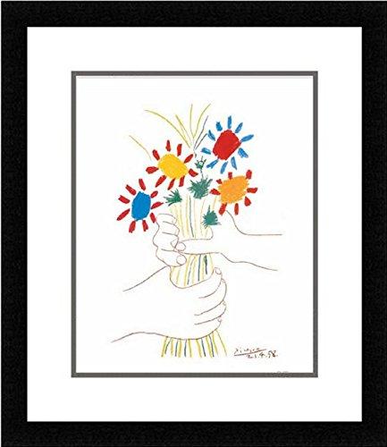 Buyartforless IF MUS210X 14x11 1.25 Plexi Wire B Framed Petite Fleurs by Pablo Picasso 14X11 Art Print Poster Wall Decor Double Mat
