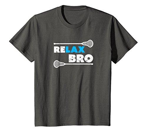 Kids ReLAX Bro Lacrosse Player T-Shirt 8 ()