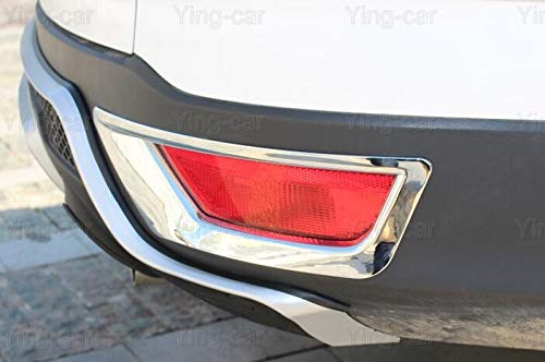 2 piezas ABS cromado parte trasera de luz antiniebla marco cubierta Tira de luz Para Kuga 2017 2018 2019