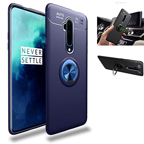 OnePlus 7T Pro Case,360° Rotating Ring Kickstand Protective Case,Silicone Soft TPU Shockproof...