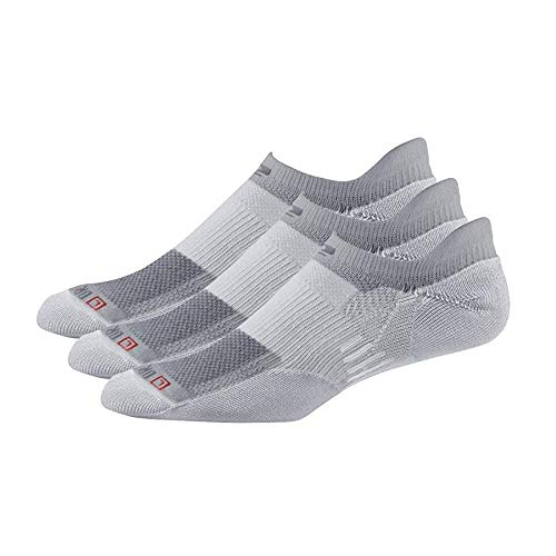 R-Gear Drymax No Show Running Socks for Men and Women (3-pairs) | Super Breathable Keep Feet Dry, Comfy and Blister-Free, L, Grey, Thin Cushion