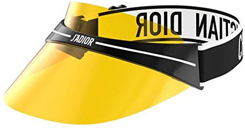 Dior DIORCLUB1 Visor Black White/Yellow one Size fits All Unisex ()