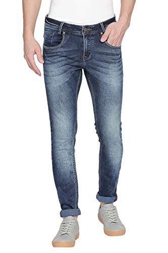 Mufti Blue Dark Skinny Denim Deluxe Jeans 2021 July Care Instructions: Hand Wash Only Fit Type: skinny Material Composition: 98% COTTON 2% Elastane