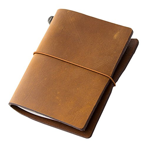 (Midori Traveler's Notebook - Starter Kit, Camel (Passport)