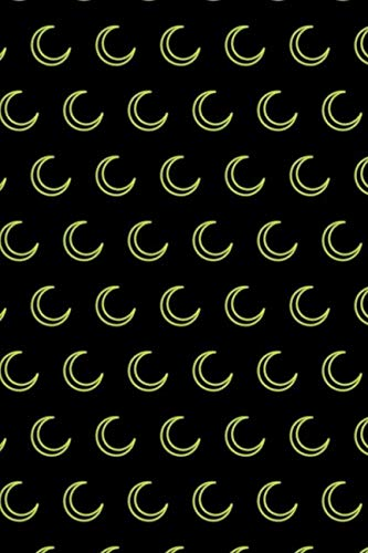 Neon Moon Pattern: Blank Lined Notebook, Journal or Diary