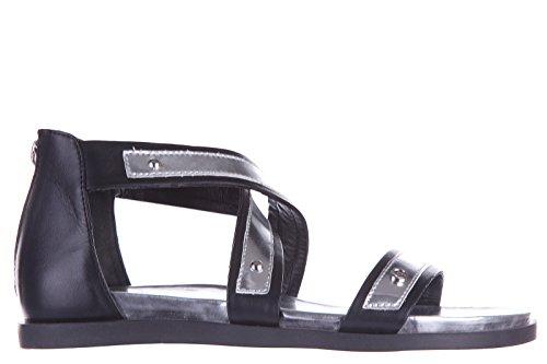 Armani Jeans sandales femme en cuir noir