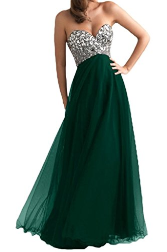 Ouman Women's Long Tulle Party Dress Prom Gown Dark Green L (Dark Long Dress Prom)