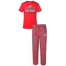 """Detroit Red Wings NHL """"Medalist"""" Men's T-shirt & Flannel Pajama Pants Sleep Set"""