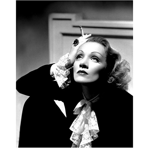 Marlene Dietrich 8 Inch x 10 Inch Photo Witness for the Prosecution The Blue Angel Destry Rides Again B&W Right Hand on Head Holding Cig kn (Marlene Dietrich Actress)
