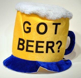(Jacobson Hat Company Men's Velvet Got Beer Mug Hat, Yellow, One)
