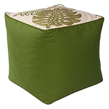 Fantastic Amazon Com Kas Oriental Rugs Tropica Pouf 18 X 18 X 18 Frankydiablos Diy Chair Ideas Frankydiabloscom